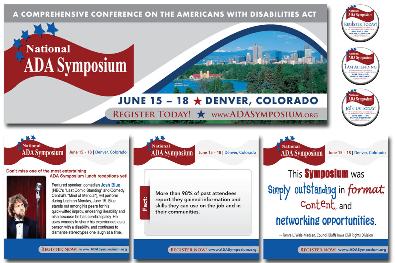 Social media promotional graphics written and designed for the 2014 National ADA Symposium.