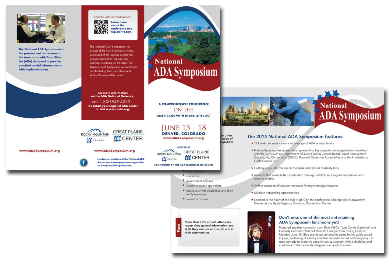 Tri-fold brochure written and designed for the 2014 National ADA Symposium.