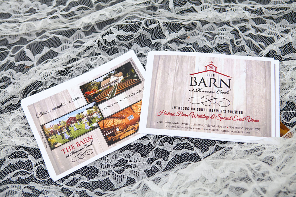 The Barn at Raccoon Creek Ground Breaking event invite.