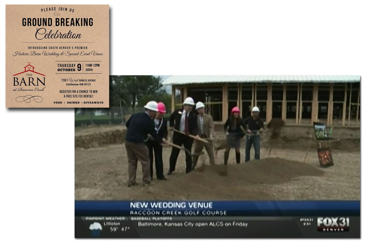 Press coverage from The Barn at Raccoon Creek's ground breaking event.