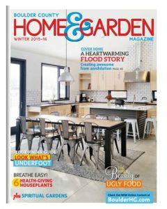Boulder Home & Garden, January 2016 cover