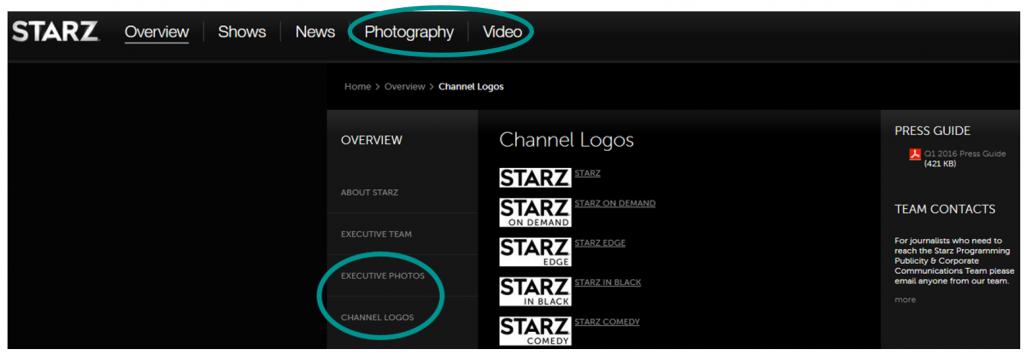 Multimedia Gallery from Starz Media Room