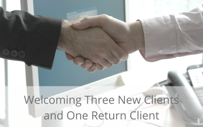 Three new Clients Signed, one Re-signed