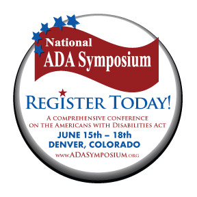 National ADA Symposium Register Today