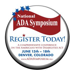 National ADA Symposium Register Today